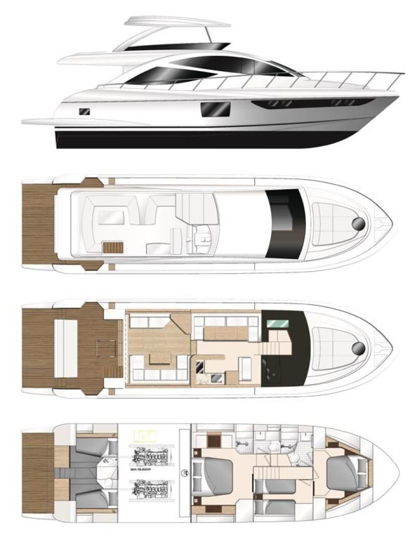 Dyna Yachts-63 2020 -Jupiter-Florida-United States-31 Layout-1460405 | Thumbnail