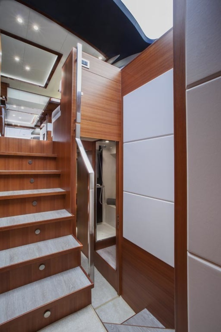 Dyna Yachts-63 2020 -Jupiter-Florida-United States-Stairs To Staterooms-1460392 | Thumbnail