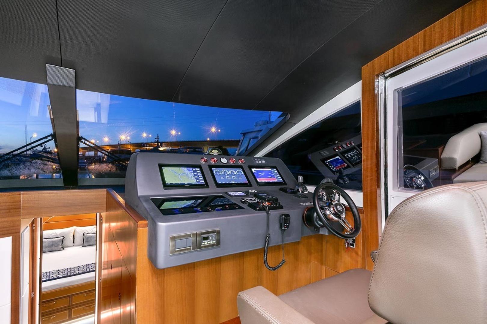 Dyna Yachts-63 2020 -Jupiter-Florida-United States-Lower Helm-1460391 | Thumbnail