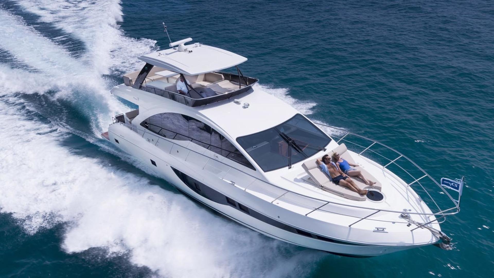 Dyna Yachts-63 2020 -Jupiter-Florida-United States-Aerial Profile-1460376 | Thumbnail