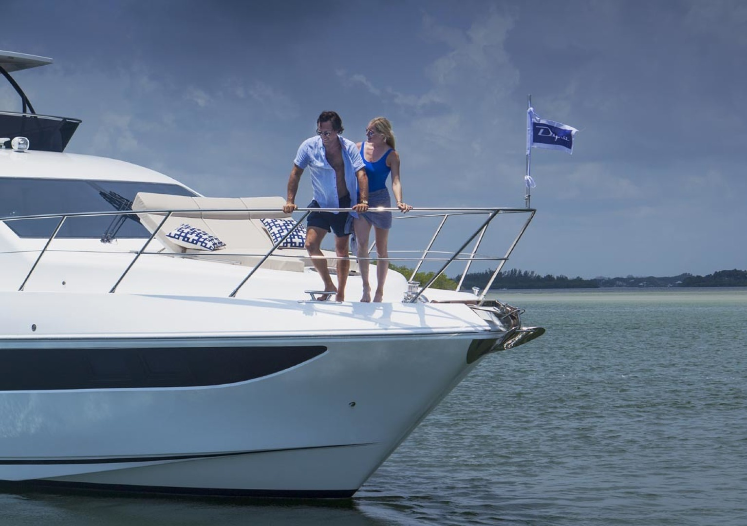 Dyna Yachts-63 2020 -Jupiter-Florida-United States-Stbd Bow Profile-1460378 | Thumbnail