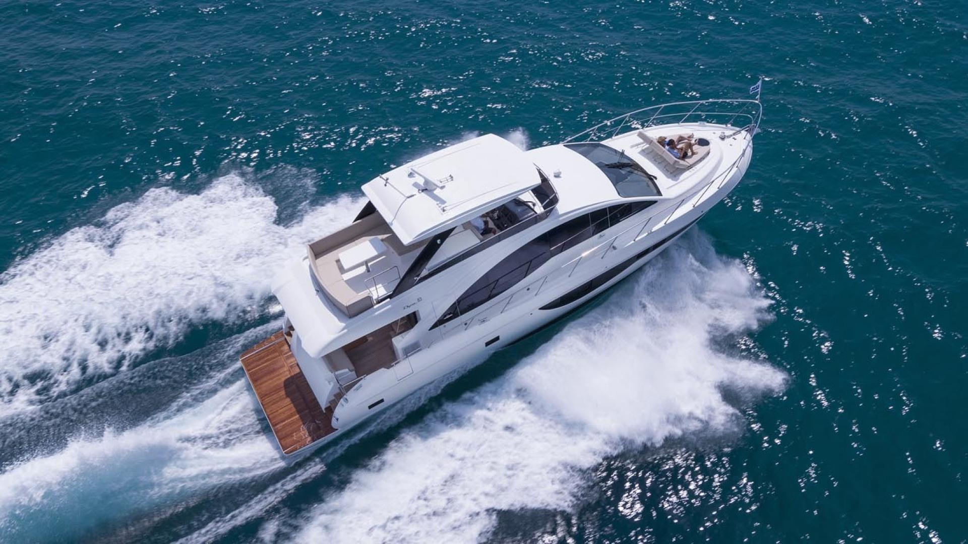 Dyna Yachts-63 2020 -Jupiter-Florida-United States-Aerial Profile-1460377 | Thumbnail