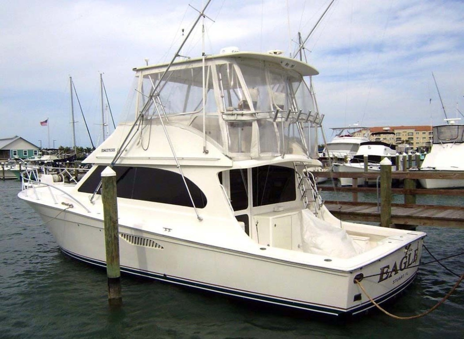 Egg Harbor-43 Sport Yacht 2005-EAGLE Ft. Pierce-Florida-United States-Port Aft-1318598 | Thumbnail