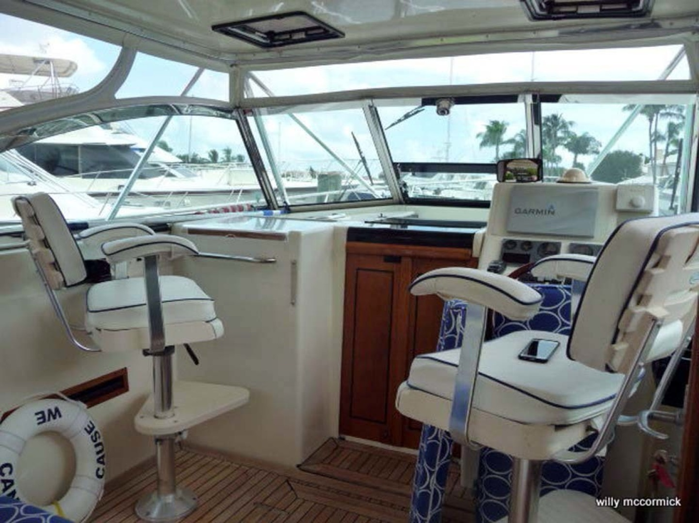 Sabre-36 Express Cruiser 2001-Cause We Can Palm Beach Gardens-Florida-United States-Helm Seats-1318575 | Thumbnail