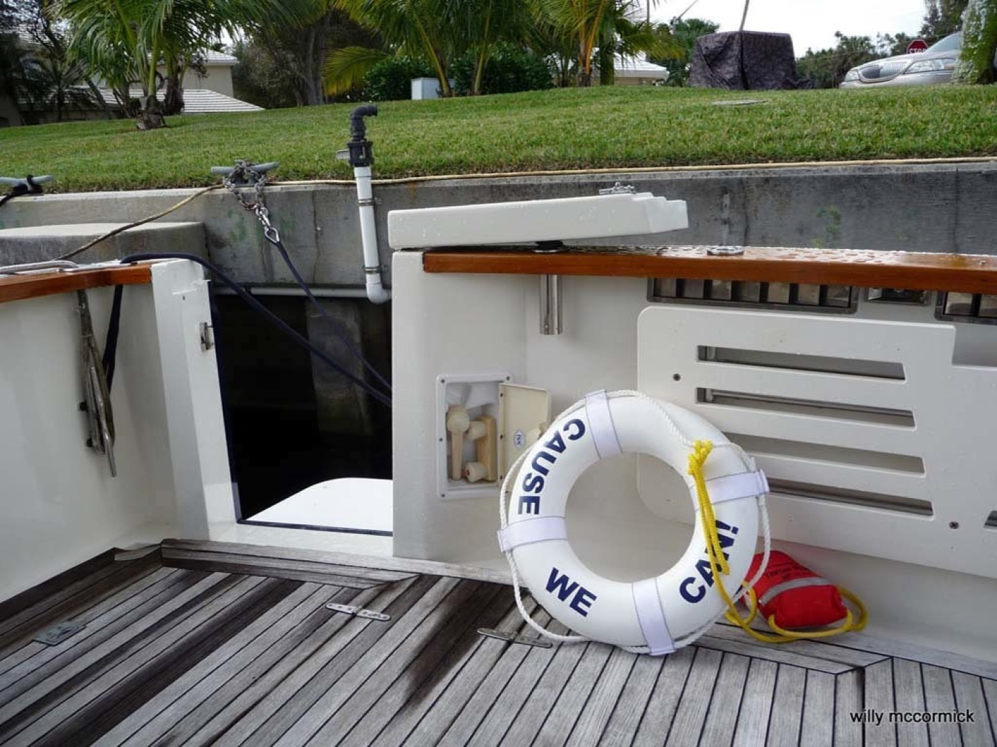 Sabre-36 Express Cruiser 2001-Cause We Can Palm Beach Gardens-Florida-United States-Transom Door-1318588 | Thumbnail