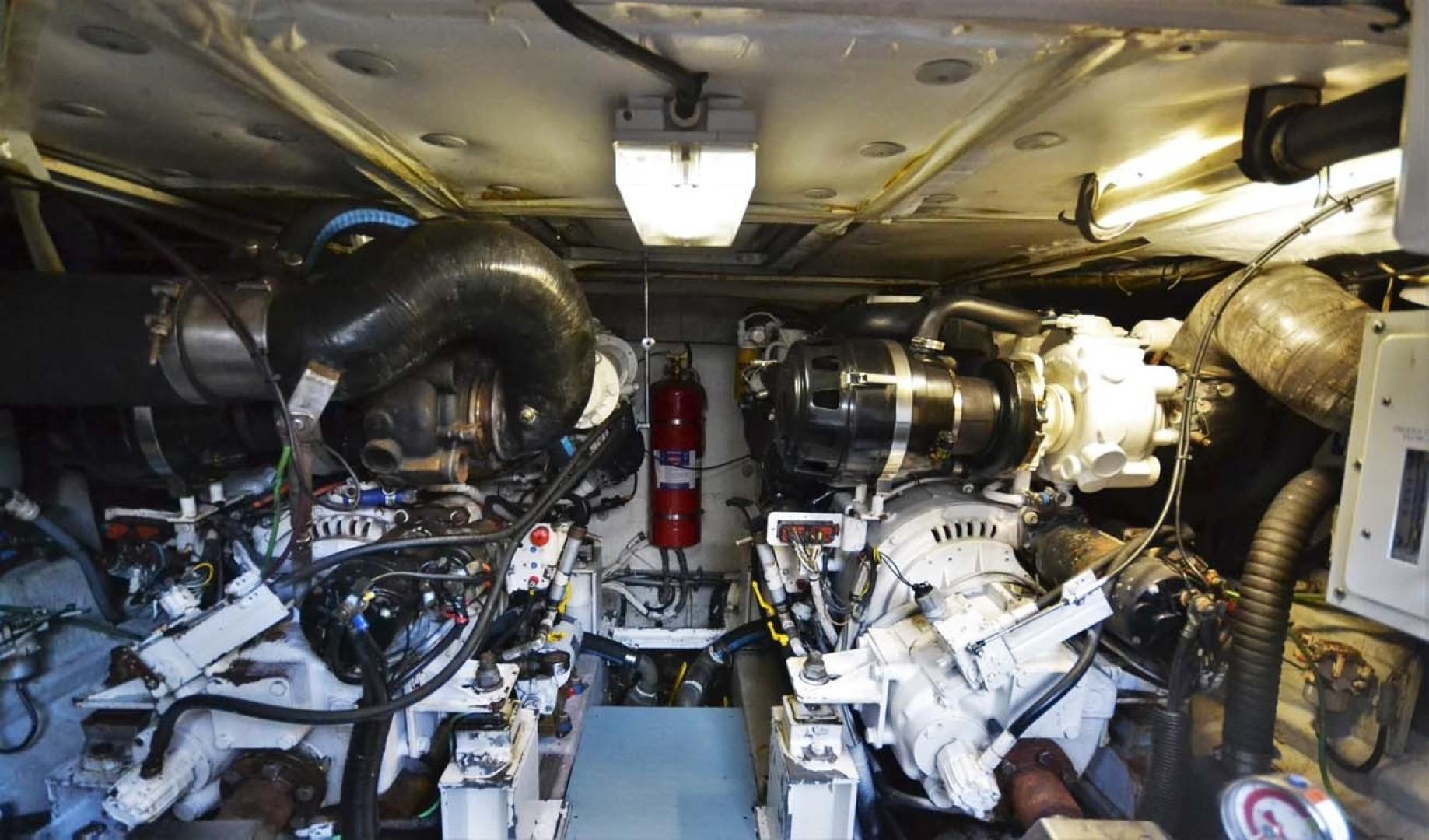 Azimut-46 Motor Yacht 2003-ChrAmy Melbourne-Florida-United States-Engine Room Forward-1318899 | Thumbnail