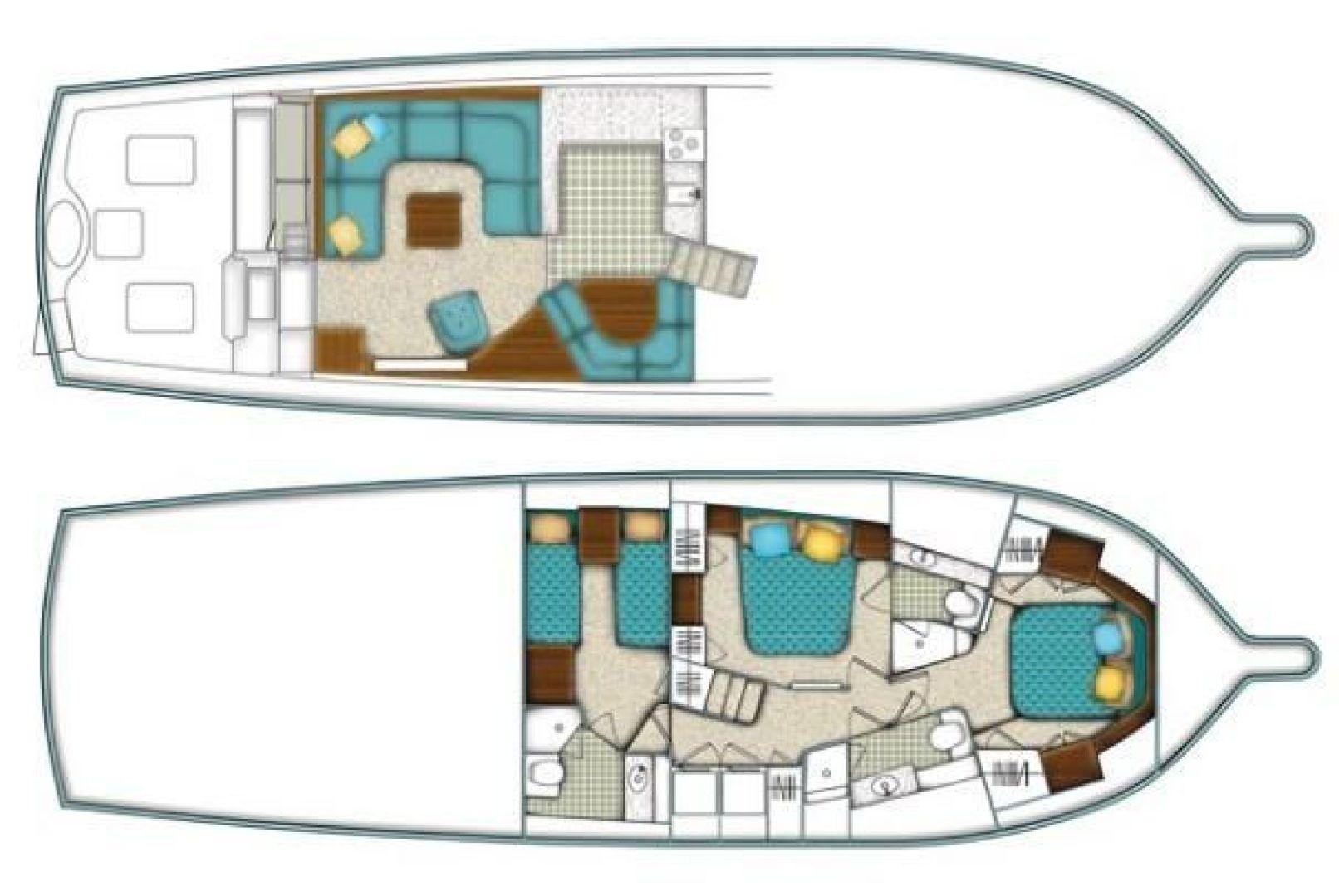 Ocean Yachts-Convertible 2009-Hog Wild Key West-Florida-United States-54 Ocean Yachts Layout-1322133   Thumbnail