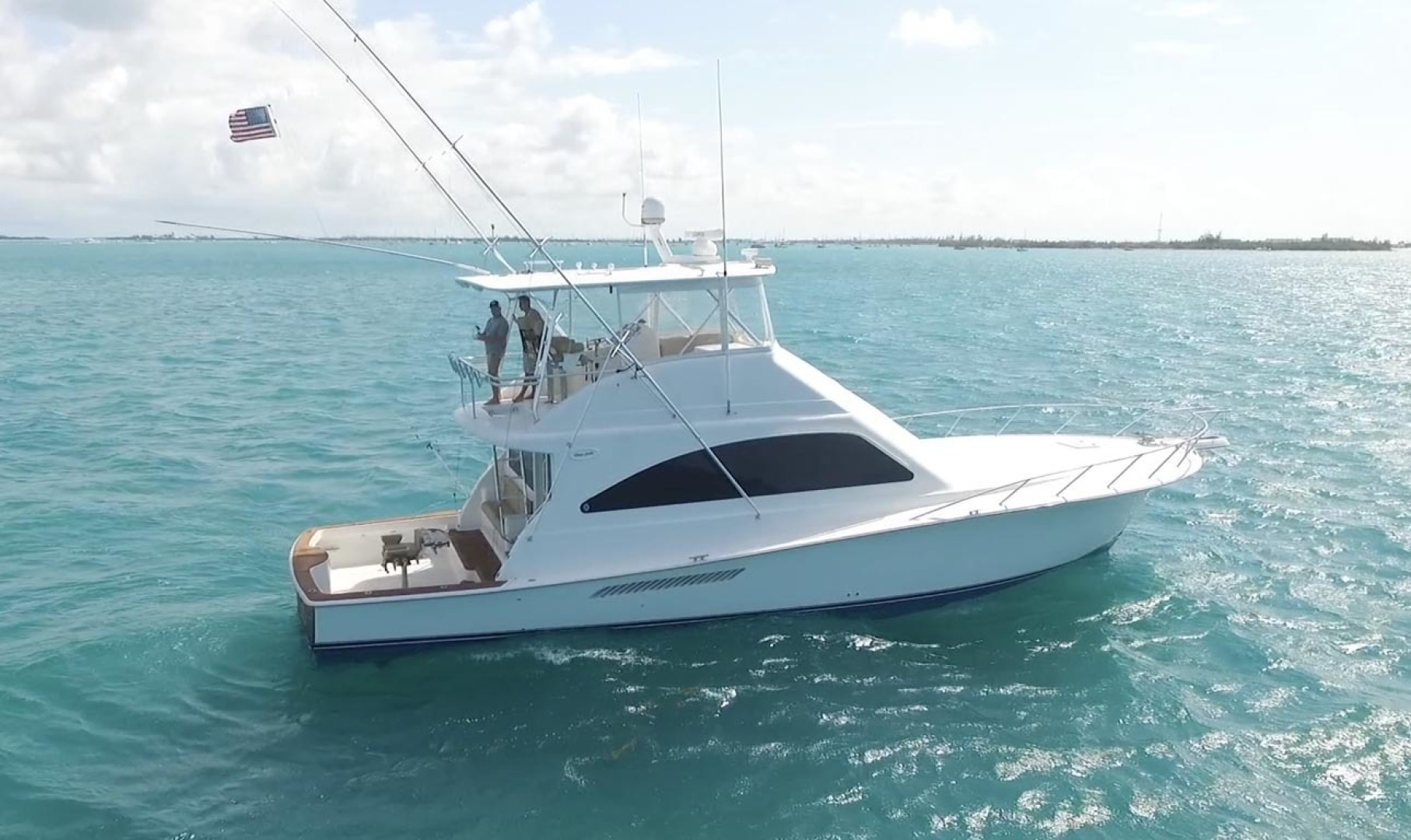 Ocean Yachts-Convertible 2009-Hog Wild Key West-Florida-United States-Starboard Profile In Water-1322165   Thumbnail