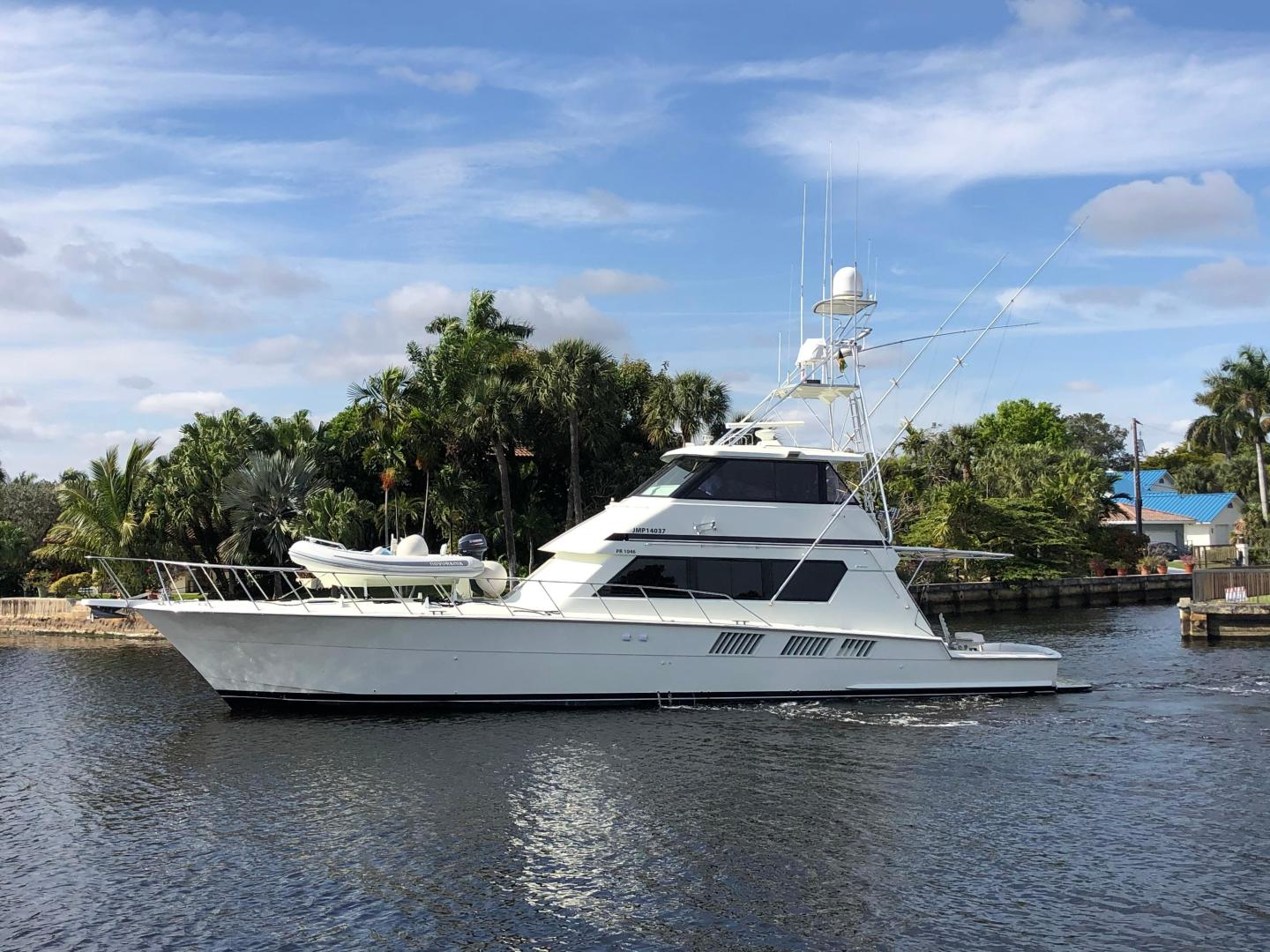 Picture Of: 65' Hatteras Enclosed Bridge 1995 Yacht For Sale | 1 of 18