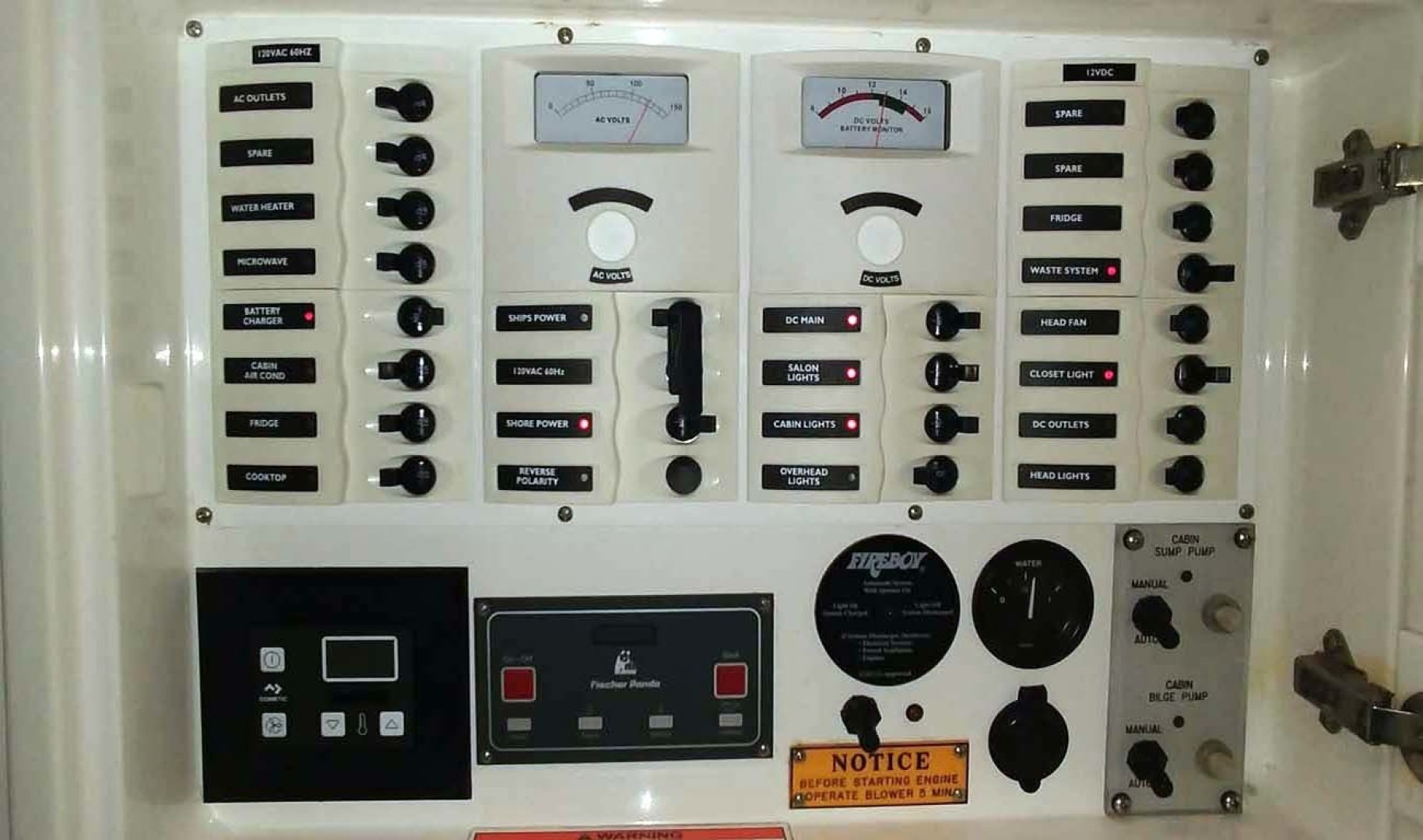 Intrepid-377 Walkaround 2006 -Pompano Beach-Florida-United States-Electrical Panel-1322766 | Thumbnail