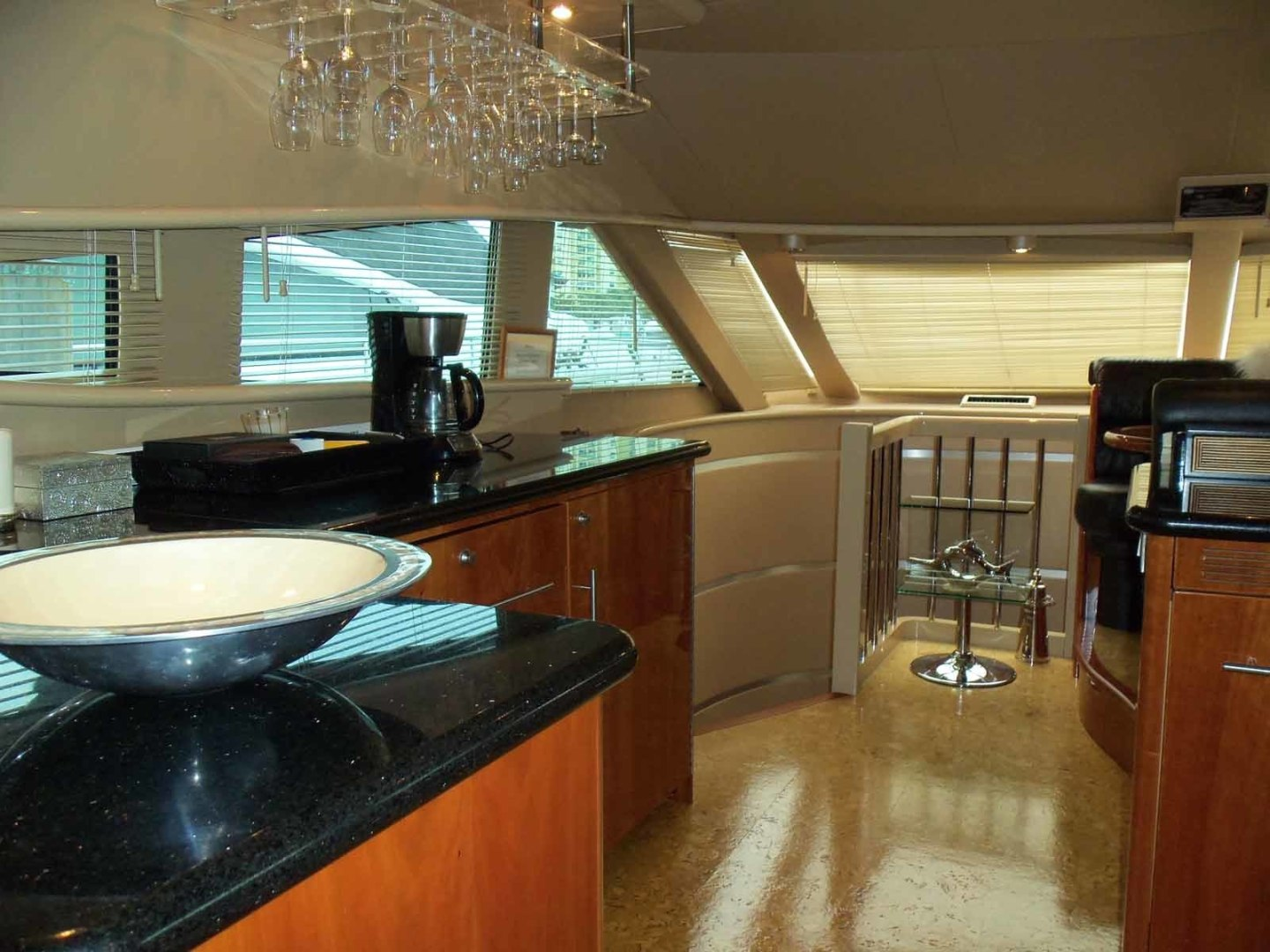 Neptunus-62 Flybridge 2008-FAMILY TRADITION Charleston-South Carolina-United States-Galley Looking Forward To Port-1336705 | Thumbnail