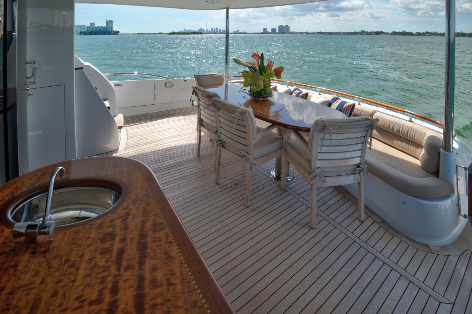 Lazzara-Open Bridge Hard Top 2007-CHIP Miami-Florida-United States-84 Lazzara Aft Deck-1324594 | Thumbnail