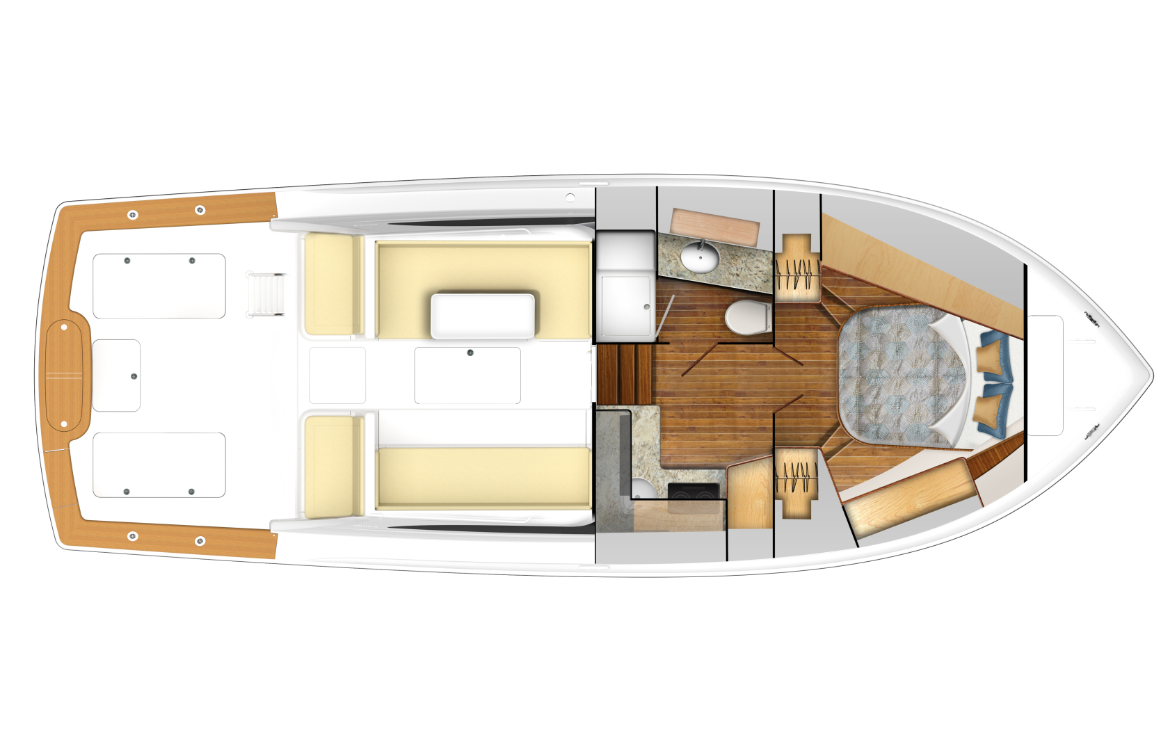 Viking 38 - Option #1 Deck/Cabin Layout