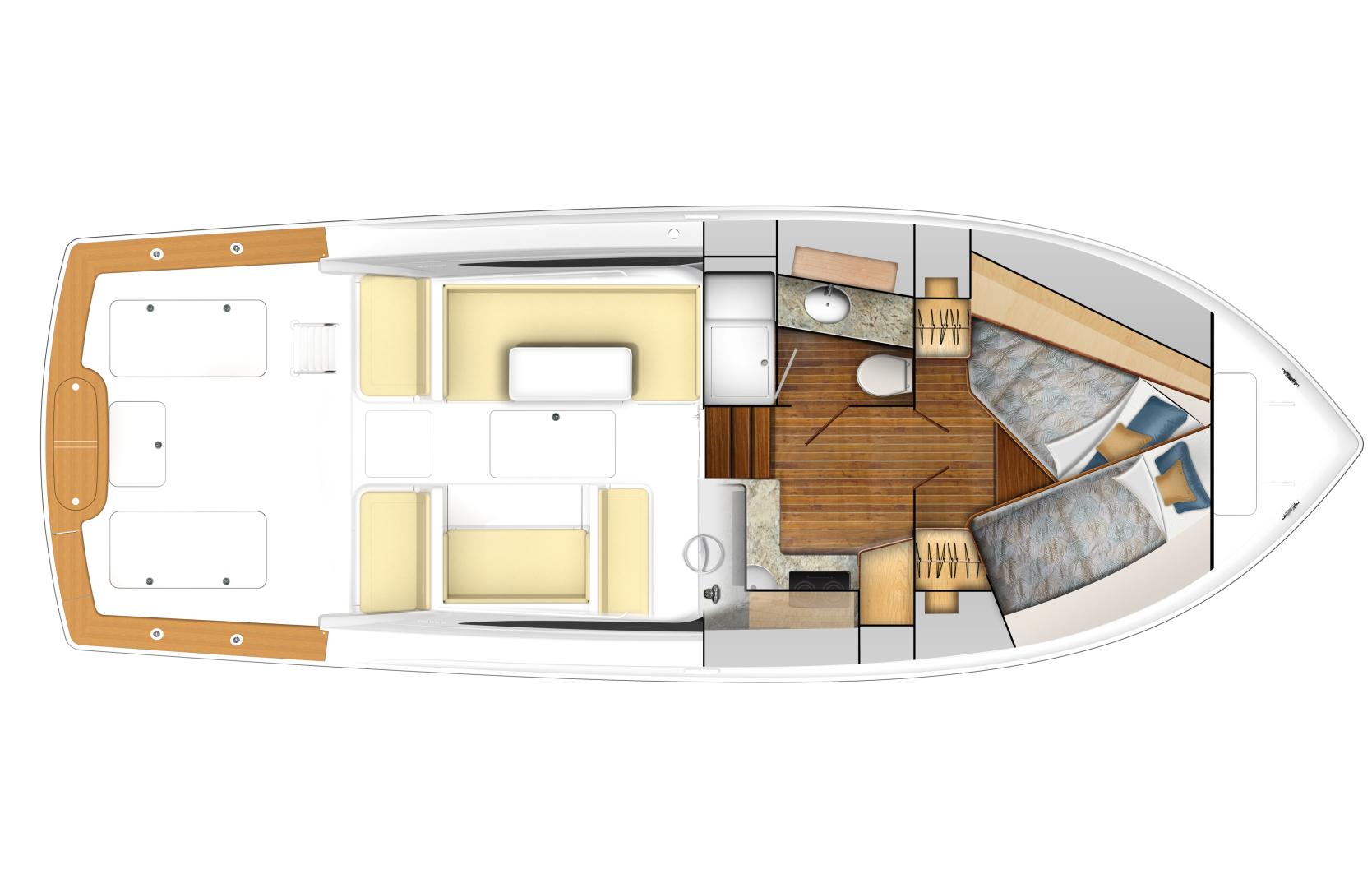Viking 38 - Option #2 Deck/Cabin Layout