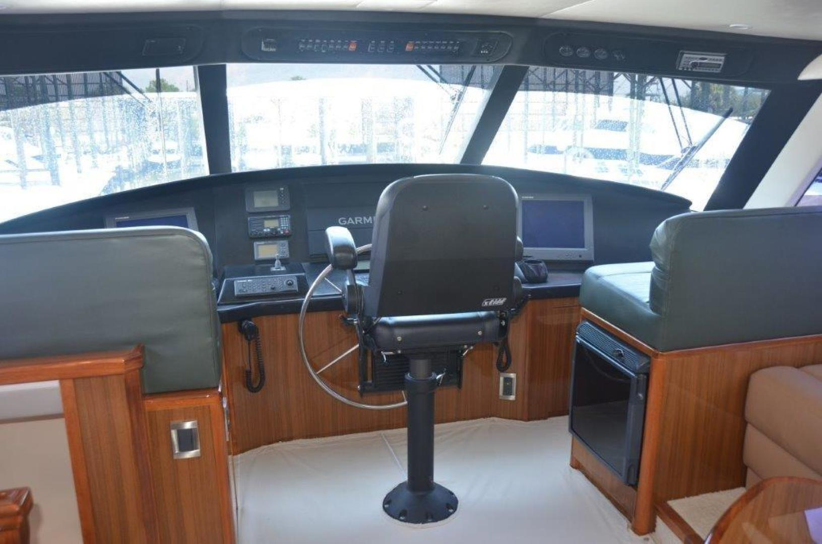 Viking-68 Enclosed Bridge 2008-Liquid Apple Fort Lauderdale-Florida-United States-Enclosed Bridge Helm-1328486 | Thumbnail