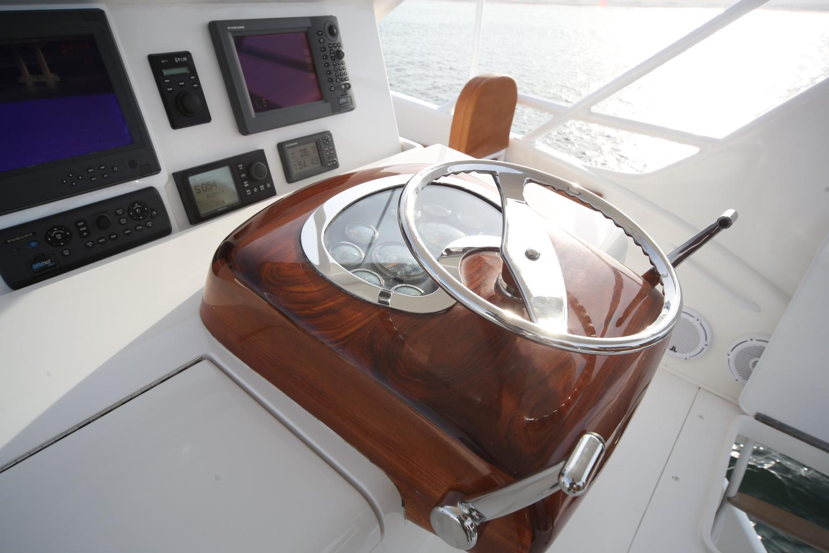 Viking-68 Enclosed Bridge 2008-Liquid Apple Fort Lauderdale-Florida-United States-Skybridge Helm-1328496 | Thumbnail