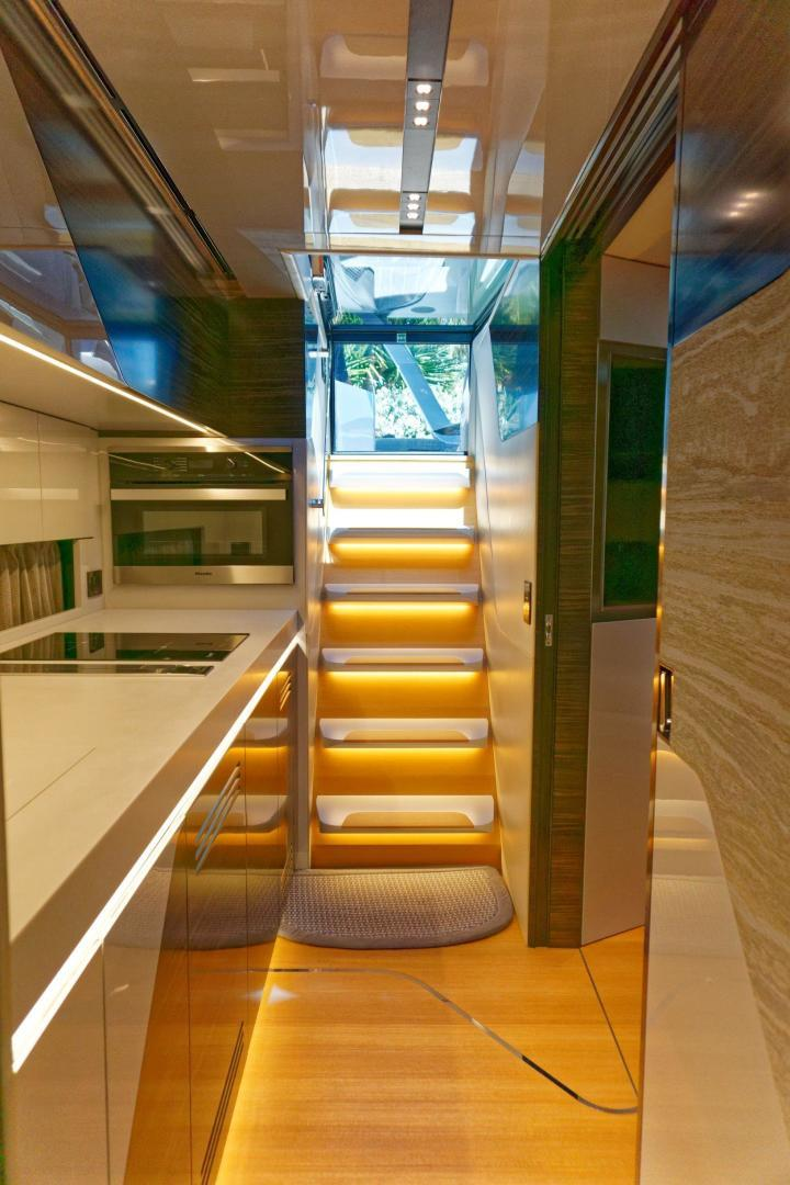 Tecnomar 55 - Stairs to Galley