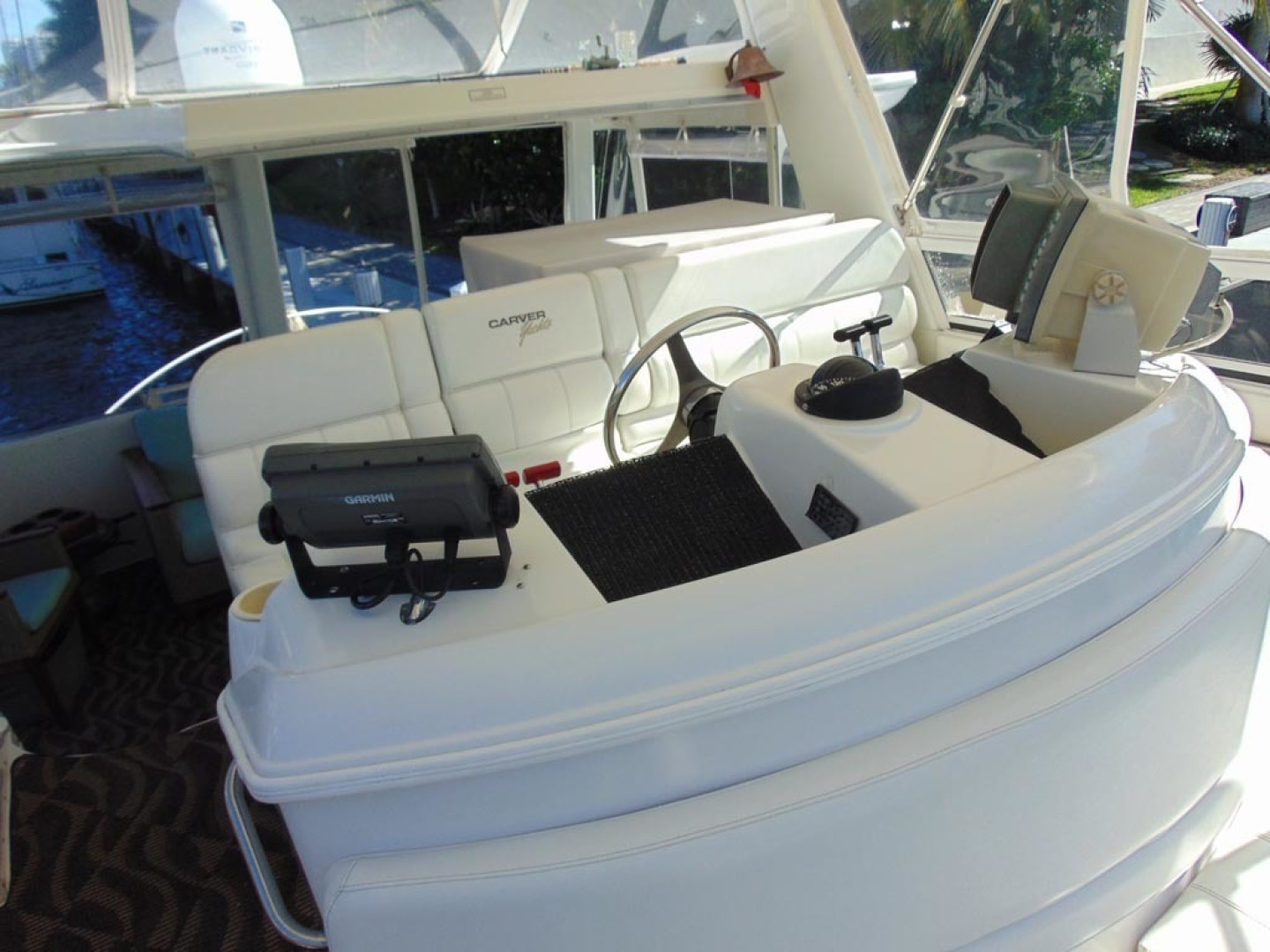 Carver-500 Cockpit Motor Yacht 1997-Happenstance Stuart-Florida-United States-Helm Seating-1341021 | Thumbnail