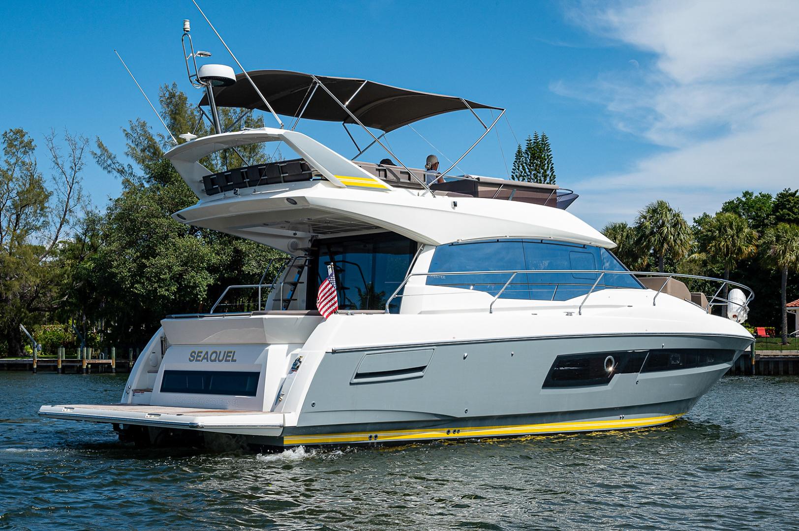 Prestige-460 Flybridge 2018-SEAQUEL Palm Beach Gardens-Florida-United States-Starboard Stern-1351131 | Thumbnail