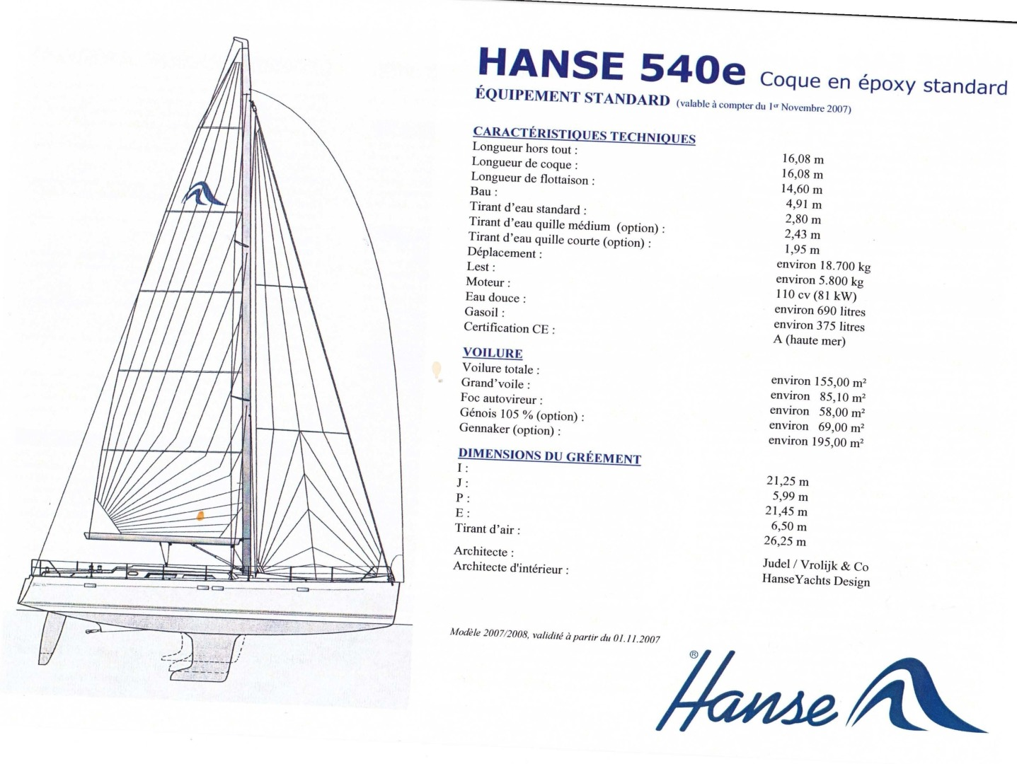 Hanse-540e 2008-Ouldary Las Playitas-Mexico-Specifications-1344546 | Thumbnail