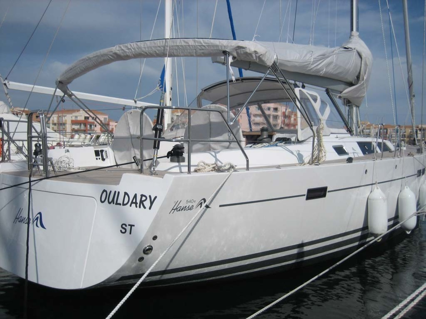 Hanse-540e 2008-Ouldary Las Playitas-Mexico-Starboard aft Quarter at the Dock-1344541 | Thumbnail