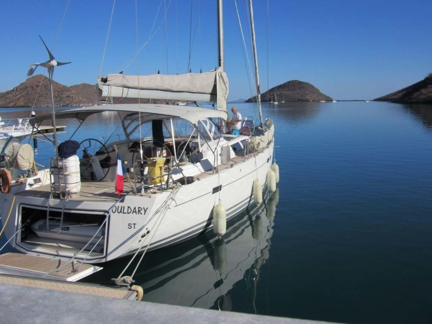 Hanse-540e 2008-Ouldary Las Playitas-Mexico-Stern and the Dock with Transom Open-1344540 | Thumbnail