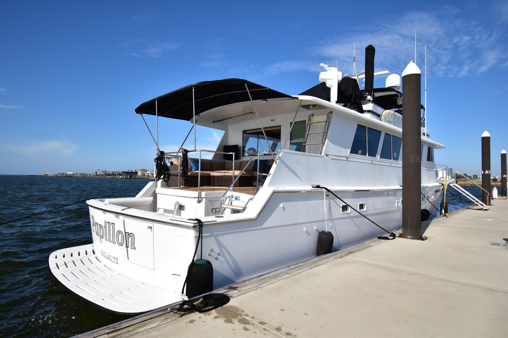 Hatteras-82 Cockpit Motor Yacht 1985-Papillon Seabrook-Texas-United States-Hatteras Motor Yacht 1985 Papillon-1345368 | Thumbnail