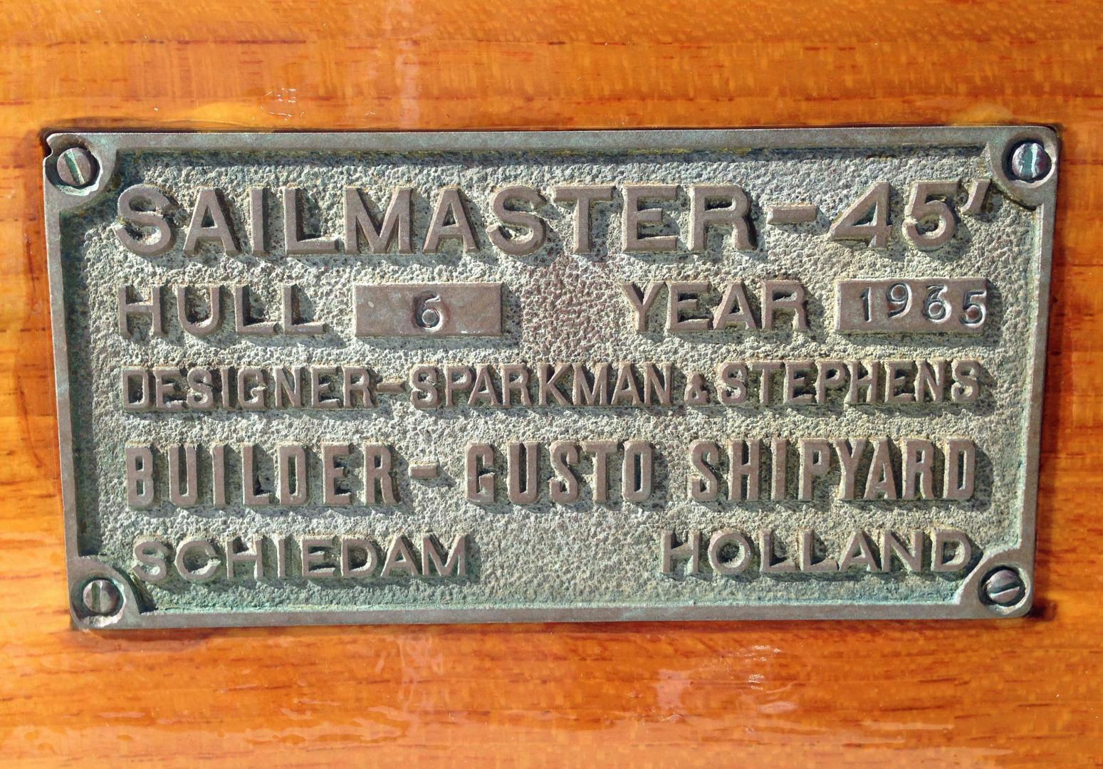 Sparkman & Stephens-Sailmaster Yawl 45 1965-MIDNIGHT Dighton-Massachusetts-United States-Midnight Sailmaster Plaque-1345473 | Thumbnail
