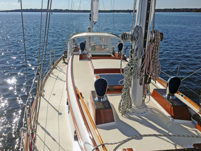 Sparkman & Stephens-Sailmaster Yawl 45 1965-MIDNIGHT Dighton-Massachusetts-United States-Midnight Looking Aft-1345461 | Thumbnail