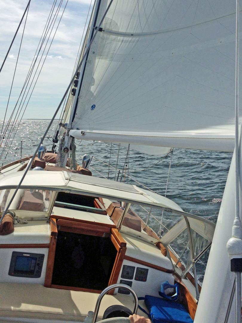 Sparkman & Stephens-Sailmaster Yawl 45 1965-MIDNIGHT Dighton-Massachusetts-United States-Midnight Companionway-1345455 | Thumbnail