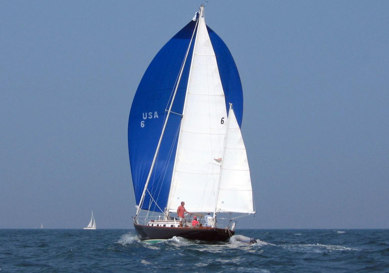 Sparkman & Stephens-Sailmaster Yawl 45 1965-MIDNIGHT Dighton-Massachusetts-United States-Midnight Running Downwind-1345469 | Thumbnail