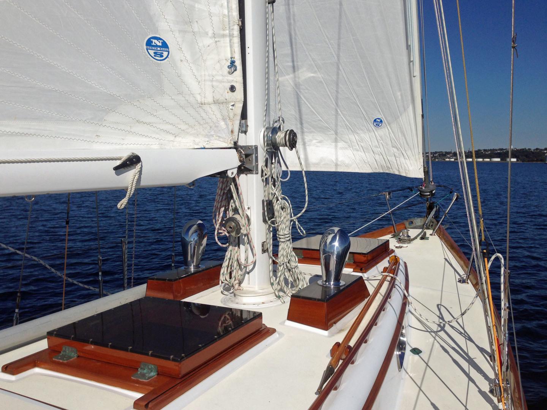 Sparkman & Stephens-Sailmaster Yawl 45 1965-MIDNIGHT Dighton-Massachusetts-United States-Midnight Foredeck-1345456 | Thumbnail