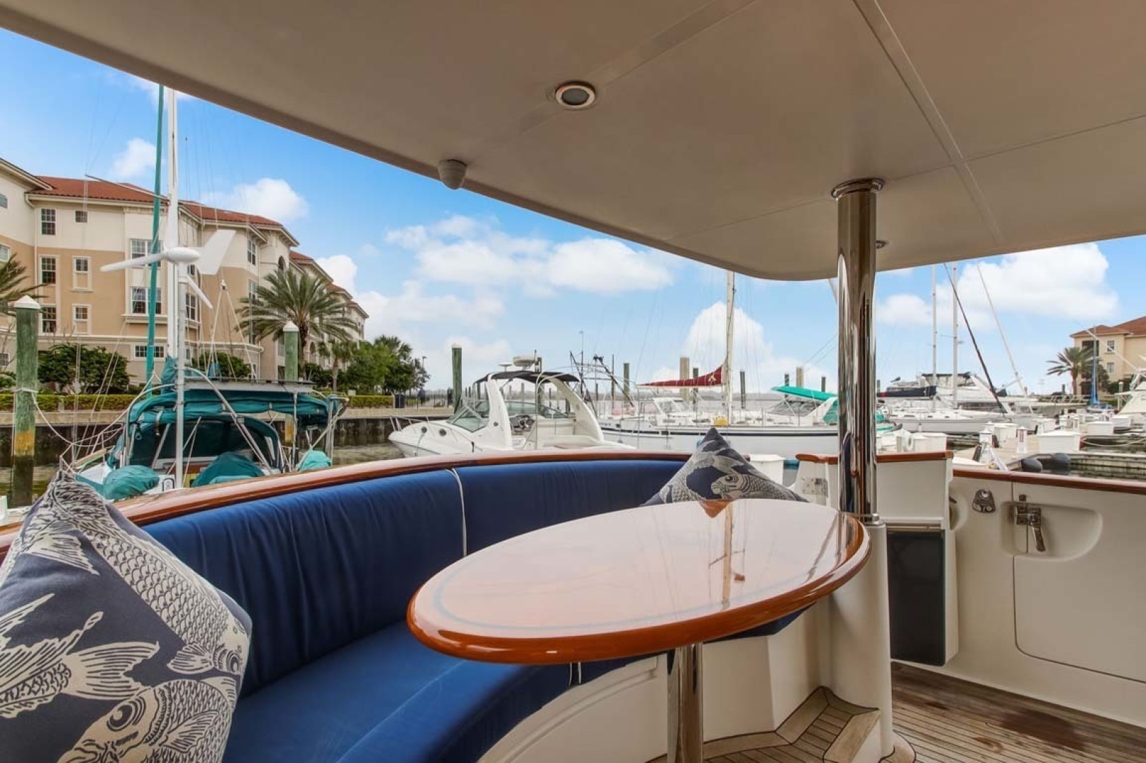 Selene-60 Ocean Trawler 2010-Gypsy Magic Jacksonville-Florida-United States-Aft Deck Seating-1346790 | Thumbnail
