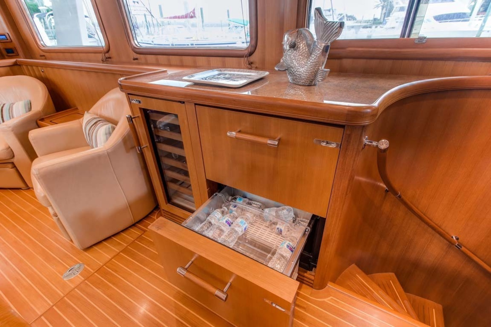Selene-60 Ocean Trawler 2010-Gypsy Magic Jacksonville-Florida-United States-Galley And Stairs To Staterooms-1346746 | Thumbnail