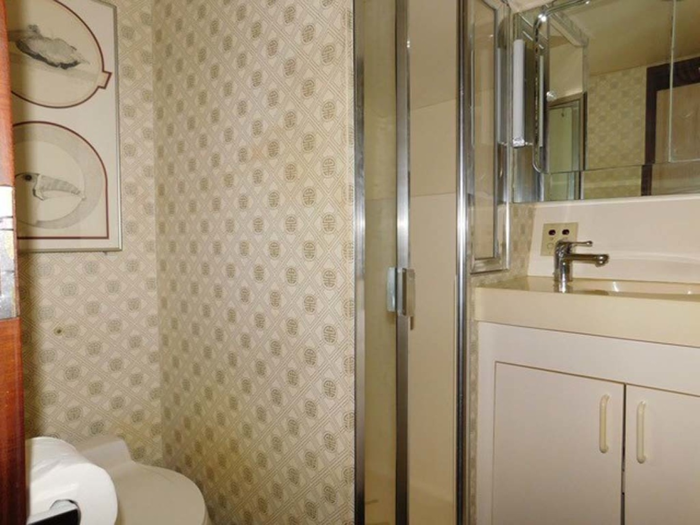 Hatteras-Sportfish 1990-Spindrift North Palm Beach-Florida-United States Guest Head And Shower Port-1420041 | Thumbnail