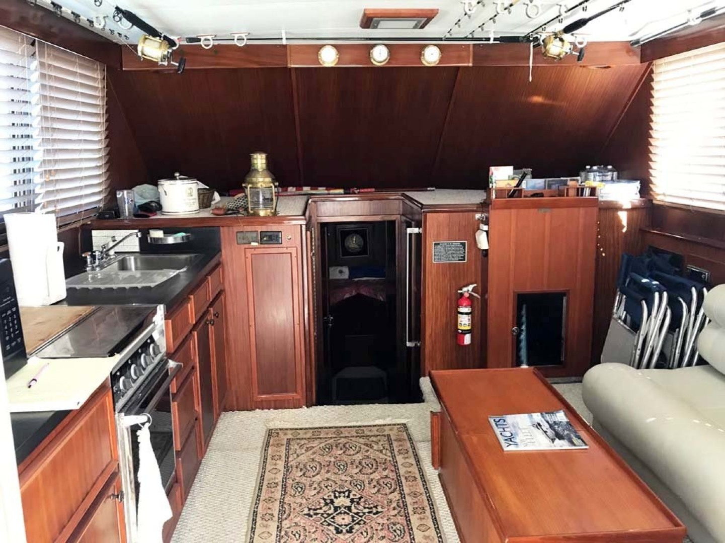 Hatteras-37 Convertible 1981-Reel Development Vero Beach-Florida-United States-Salon And Galley Looking Into Master V Berth-1347826 | Thumbnail