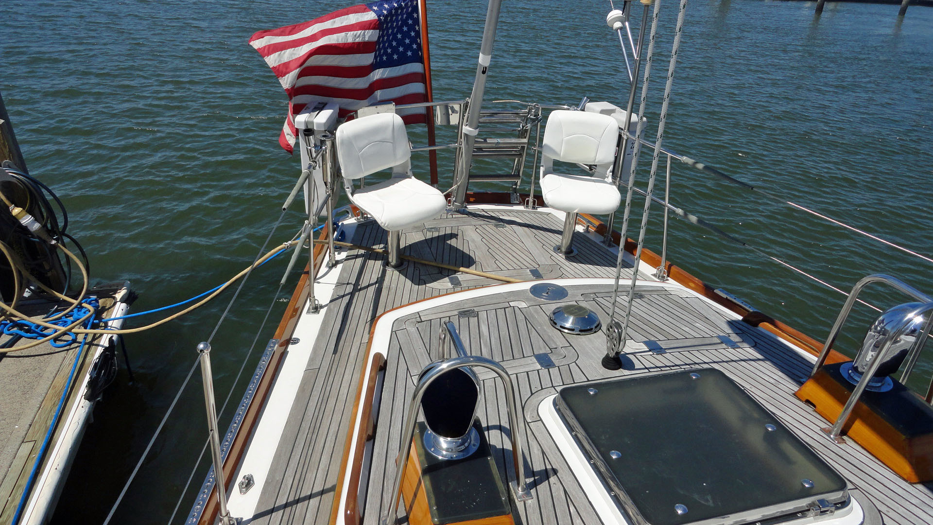 Little Harbor-54 1995-LA DIFFERENCE Branford-Connecticut-United States-Aft Deck-1400163 | Thumbnail
