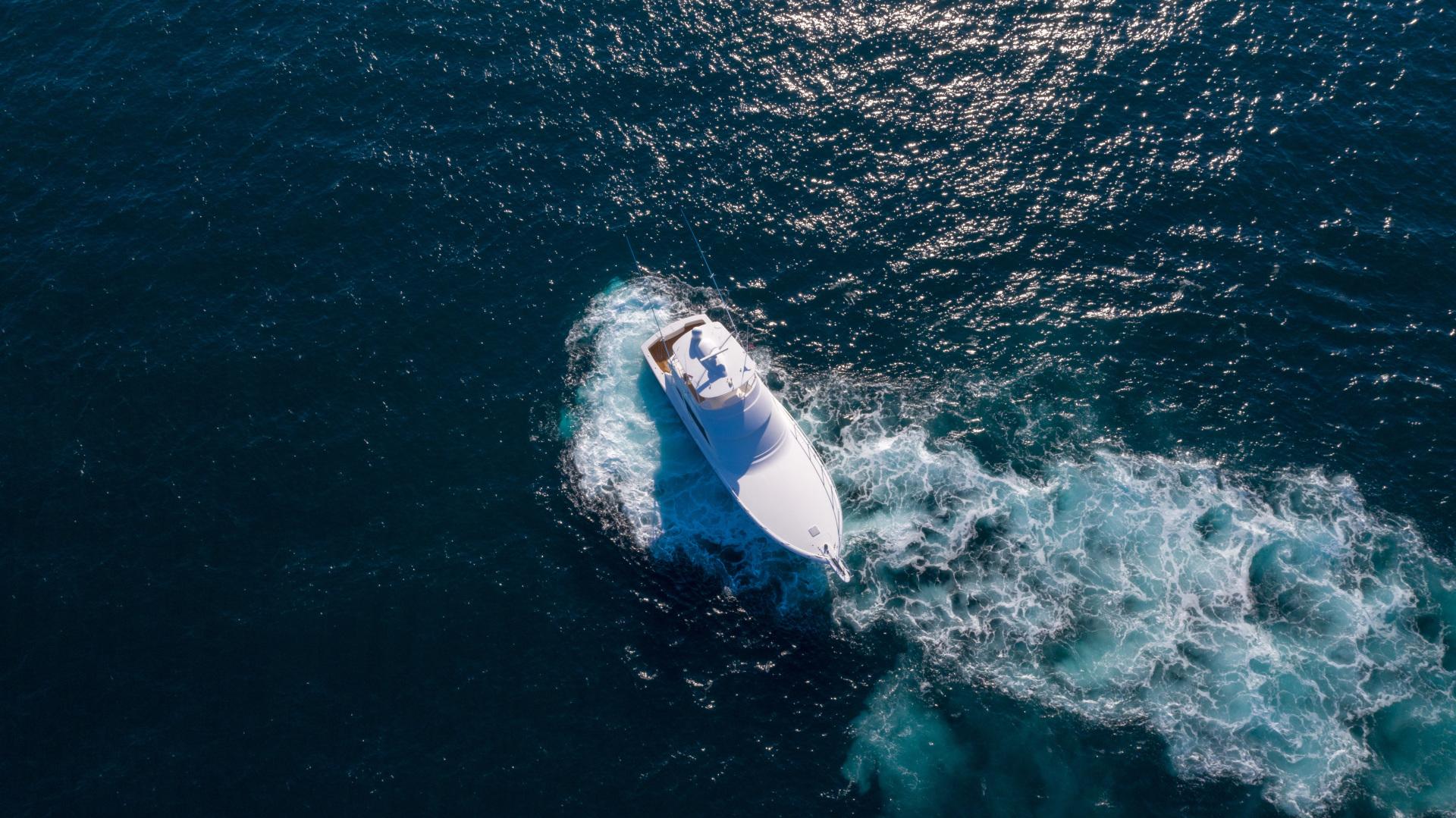 Viking-62 Convertible 2014-Mixer Playa Herradura, Los Suenos,-Costa Rica-2014 Viking 62 Convertible  Aerial Profile Running Backwards-1356289 | Thumbnail
