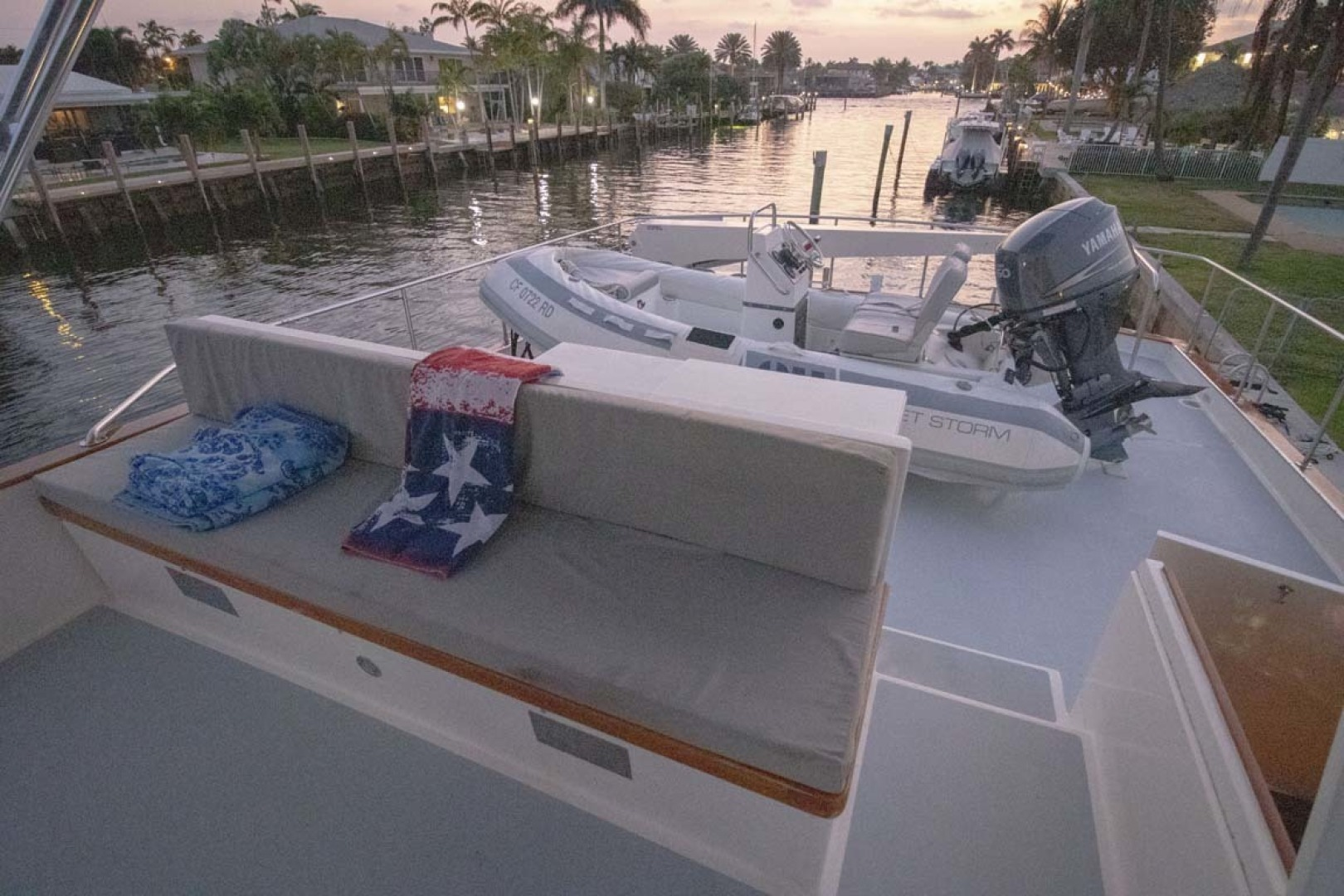 Nordlund-Raised Pilothouse 1985-Quiet Storm Fort Lauderdale-Florida-United States-Flybridge Looking Aft-1367089 | Thumbnail