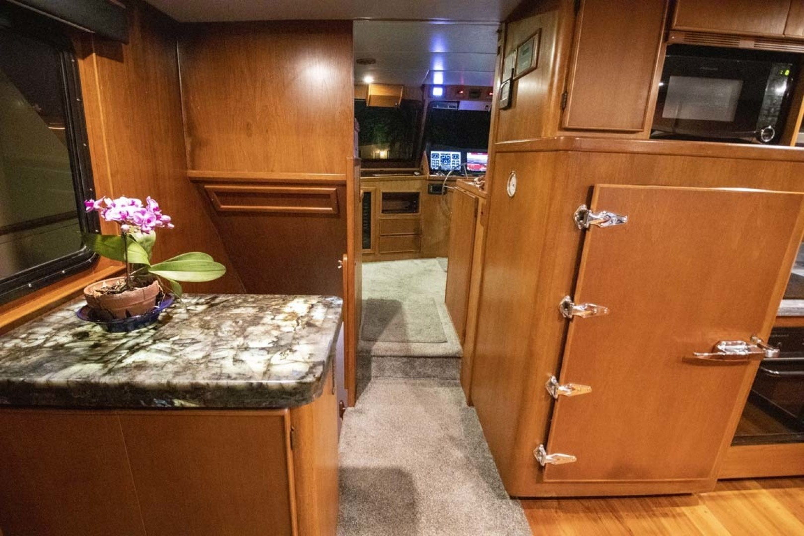 Nordlund-Raised Pilothouse 1985-Quiet Storm Fort Lauderdale-Florida-United States-Galley Looking At Pilothouse-1367072 | Thumbnail