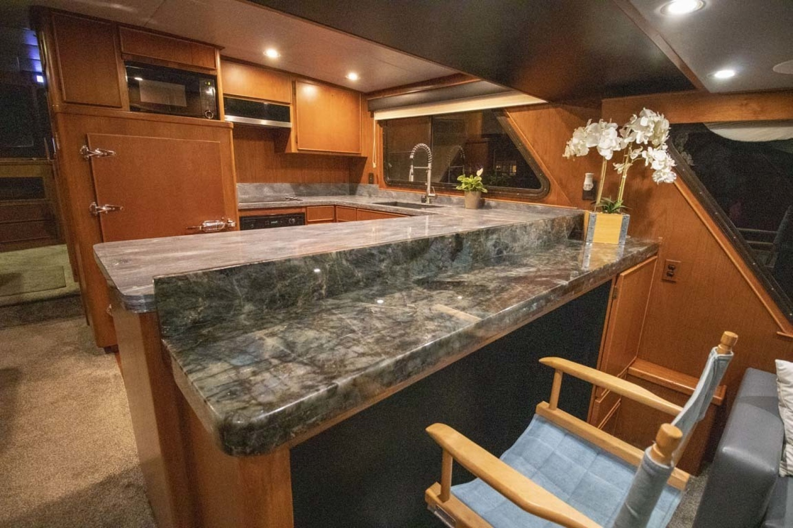Nordlund-Raised Pilothouse 1985-Quiet Storm Fort Lauderdale-Florida-United States-Salon Bar And Galley-1367073 | Thumbnail