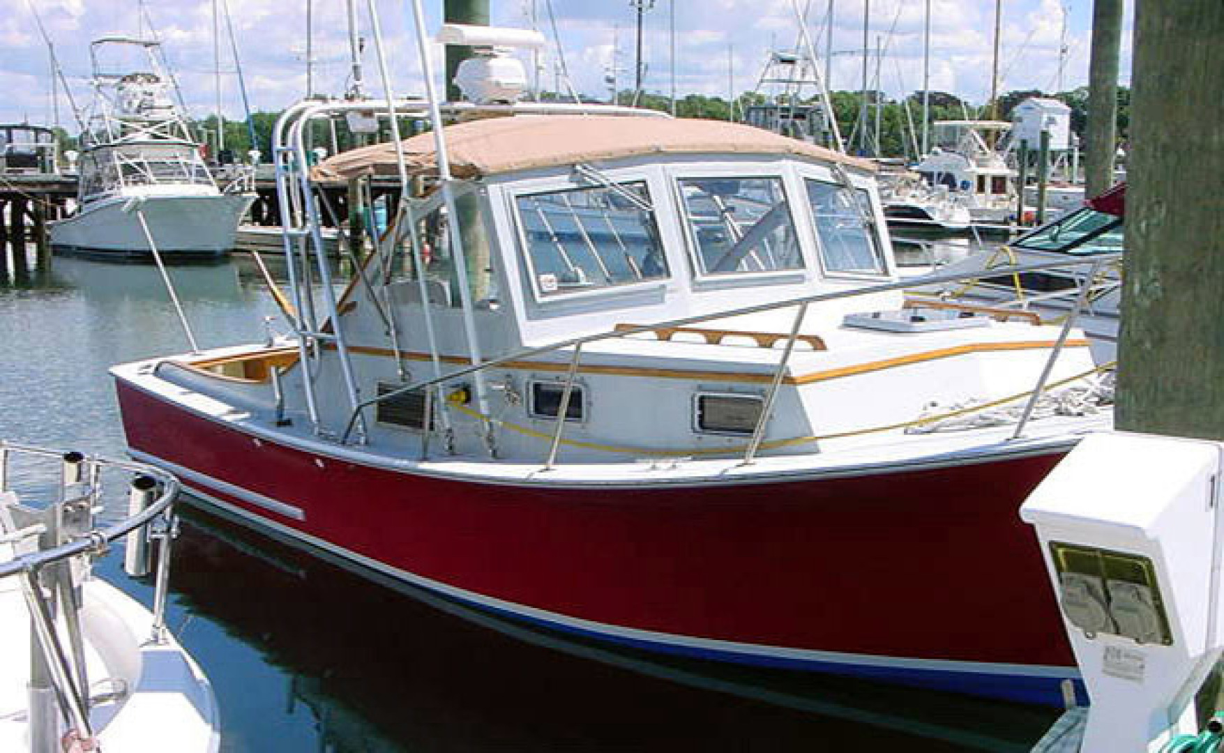 Webbers Cove-Downeast 1996-TIKI Jamestown-Rhode Island-United States-Starboard Profile At Dock-1354543 | Thumbnail