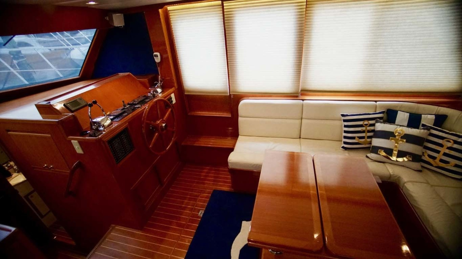 Novatec-48 Fast Trawler 2003-SINE DIE II Destin-Florida-United States-Salon Seating And Lower Helm-1360614 | Thumbnail