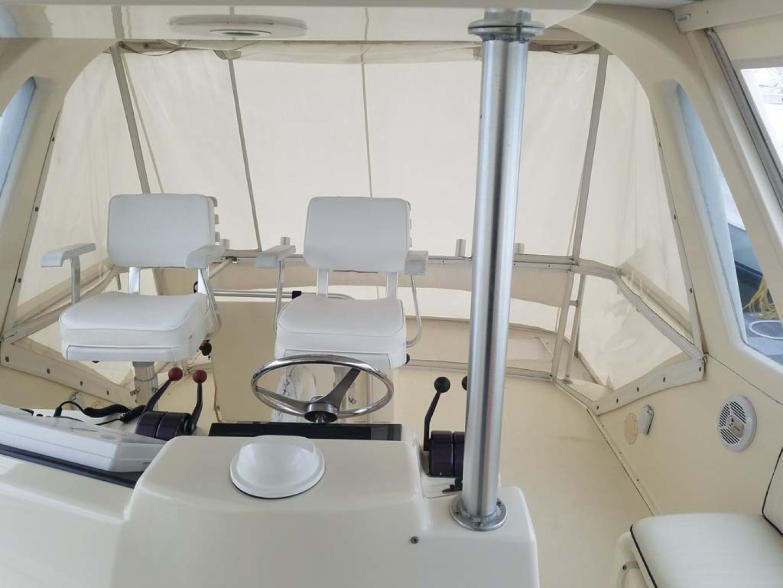 Ocean Yachts-Sportfish 1991-KelAnna East Greenwich-Rhode Island-United States-Bridge To Aft   Pompanette Helm  Seats-1356173   Thumbnail