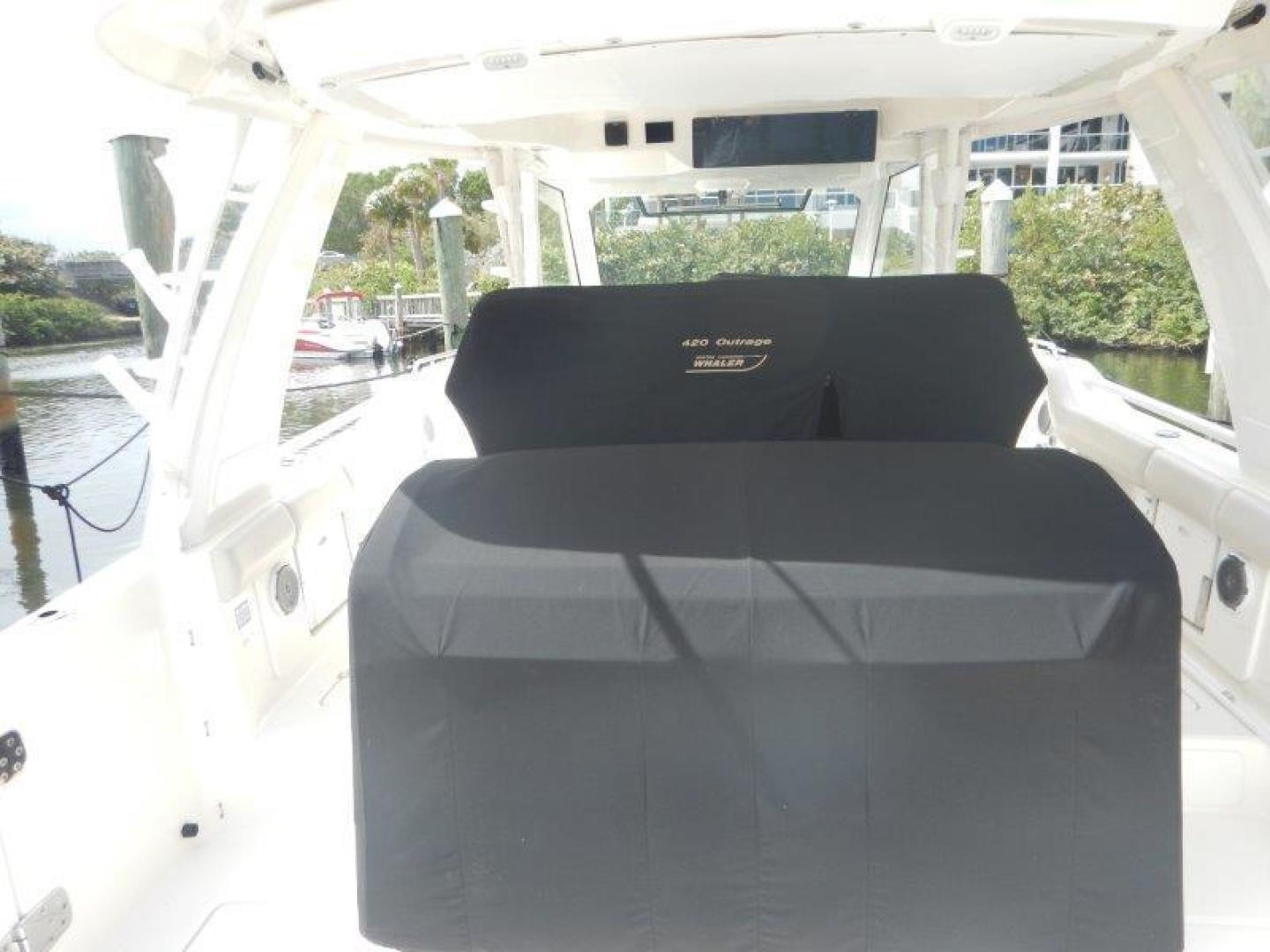 Boston Whaler 42 - Boss Lady - Aft Deck Cover