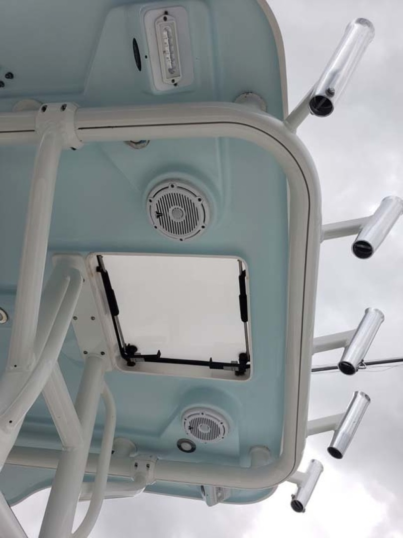 Everglades-350 CC 2011-Sea Predator Palm Beach Gardens-Florida-United States-Ladder To Access From Cockpit Through Bomar Hatch-1359632 | Thumbnail