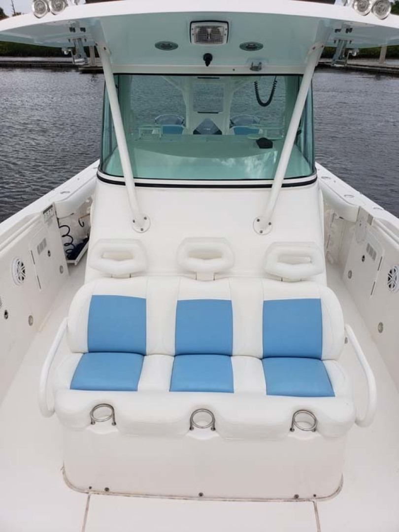 Everglades-350 CC 2011-Sea Predator Palm Beach Gardens-Florida-United States-Helm Hardtop With 3 Sided Glass Screen Enclosure-1359617 | Thumbnail