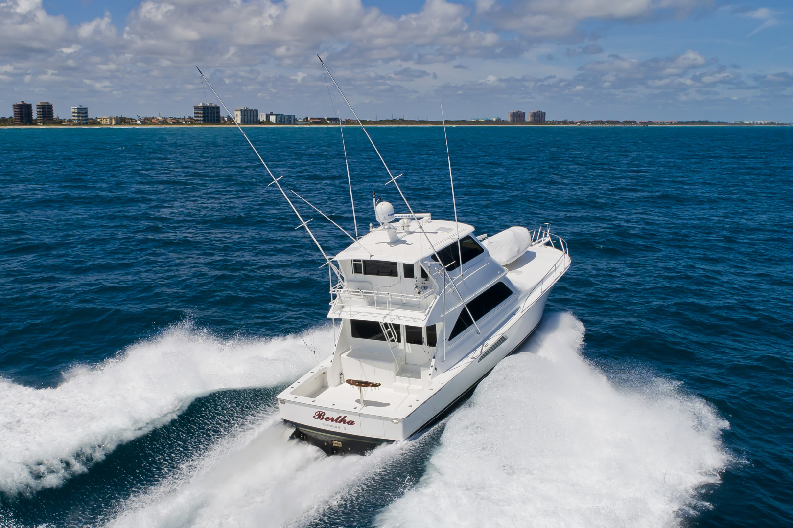 Picture Of: 61' Viking 61 Enclosed Bridge Convertible 2004 Yacht For Sale | 2 of 59