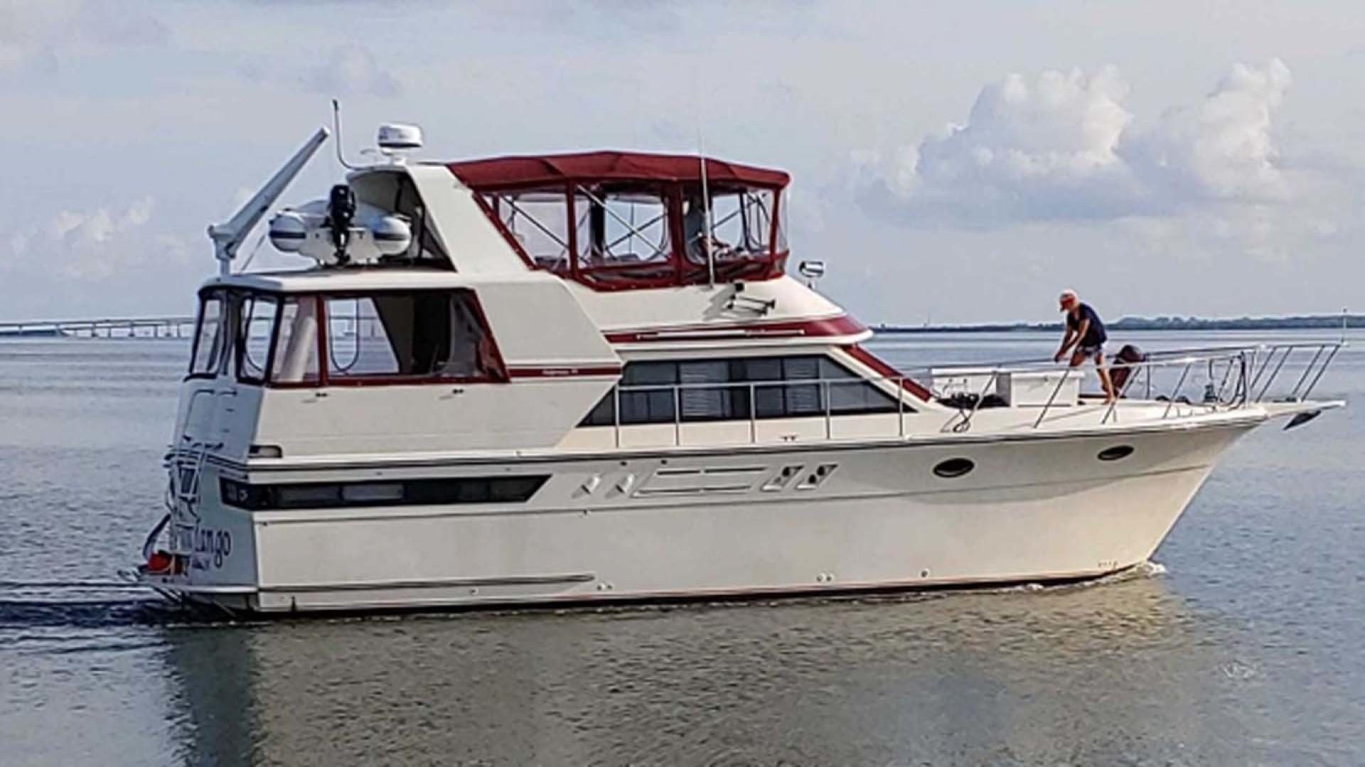 Californian-45 Aft Cabin Motor Yacht 1989-Last Tango Merritt Island-Florida-United States-Underway   Starboard Profile-1367190   Thumbnail