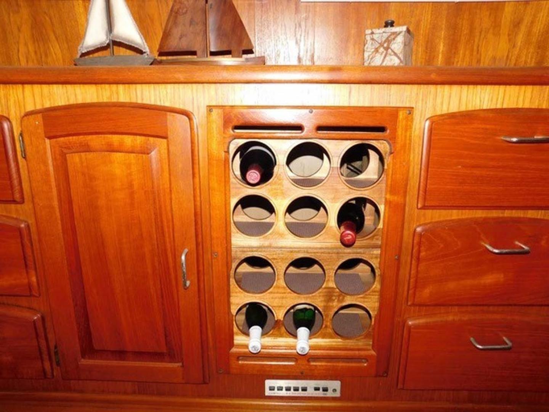 Californian-45 Aft Cabin Motor Yacht 1989-Last Tango Merritt Island-Florida-United States-Wine Rack-1367144   Thumbnail